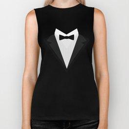 Black Tuxedo Suit with bow tie T-Shirt D946n Biker Tank