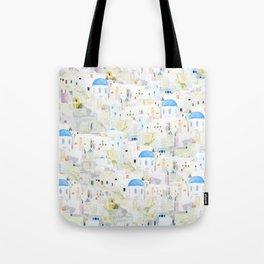watercolor Santoroni pattern Tote Bag