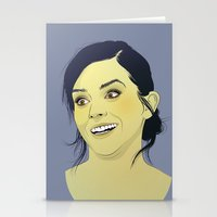 emma watson Stationery Cards featuring Emma Watson funny face by Esther Cerga