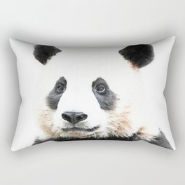 Panda Watercolor Panda Bear Portrait Rectangular Pillow