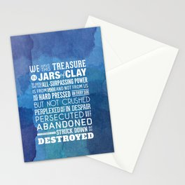 Jars of Clay. 2 Corinthians 4:7-9. Stationery Cards