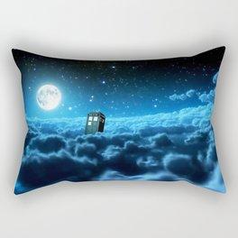 Tardis Cloud And Moon Rectangular Pillow