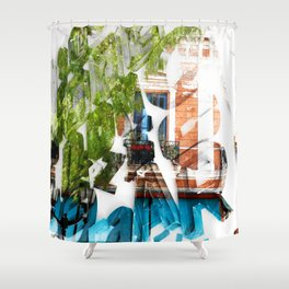 LETRAS - BONS ARES 1 Shower Curtain