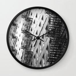 Chicago fire escapes Wall Clock