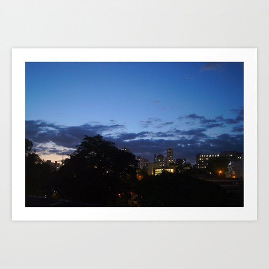 THE NIGHT IS COMING. Art Print