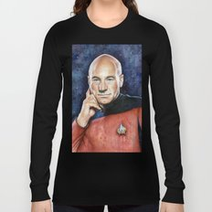 Captain Picard Long Sleeve T-shirt