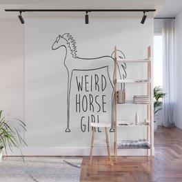 Weird Horse Girl [Black] Wall Mural