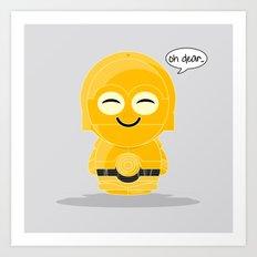 ChibizPop: Oh Dear! Art Print
