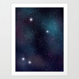 Peaceful Space Art Print