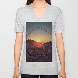 Peel sunset Unisex V-Neck