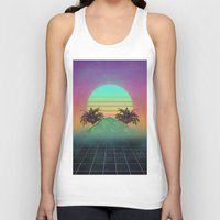 80s Tank Tops featuring 80s love by Mikuloctopus