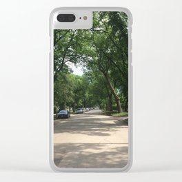 Road full of trees Clear iPhone Case