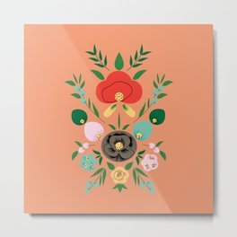 Mexico Flowers Metal Print