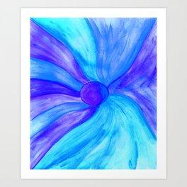 Rays in blue Art Print