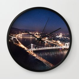 NIGHT TIME IN BUDAPEST Wall Clock