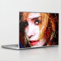 emma watson Laptop & iPad Skins featuring Emma Watson by Raditya Giga
