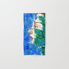 Leaves and face Hand & Bath Towel