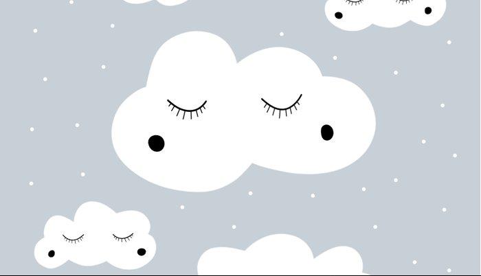 clouds and dots Kissenbezug