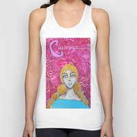 courage Tank Tops featuring Courage by Leanne Schuetz Mixed Media Artist
