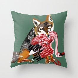 Serengeti Wolf Throw Pillow