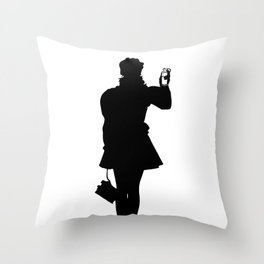 White Riot Throw Pillow