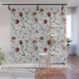 Floral Spice, Flowers Print Pattern Wall Mural