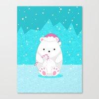 polar bear Canvas Prints featuring Polar bear by eDrawings38