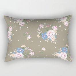 Heirloom Rose - Raw Umber Rectangular Pillow