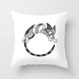 Cat Loop Throw Pillow