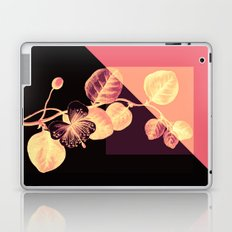 flower on pink,purple and black Laptop & iPad Skin