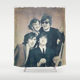 Beatle - John, Paul, George, and Ringo Shower Curtain
