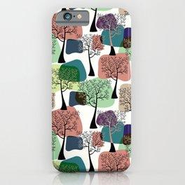 Tree & tree. iPhone Case