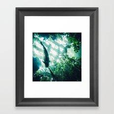 Glass Sea v. Synthetic Rainforest Framed Art Print