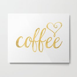 Coffee gold Metal Print