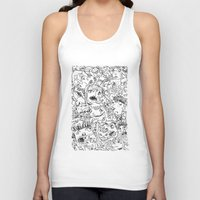 it crowd Tank Tops featuring Crowd by Sára Szabó