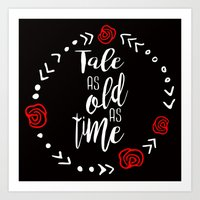 Beauty and the Beast: Tale as Old as Time Art Print