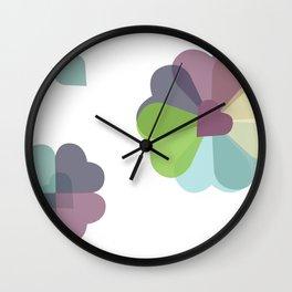 Heartflowers1 Wall Clock