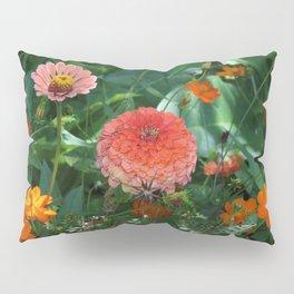Flowers in Juicy Citrus Colors Pillow Sham