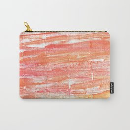 Vivid tangerine abstract watercolor Carry-All Pouch