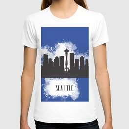 Seattle skyline silhouette T-shirt
