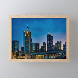 Frankfurt, Germany Skyline Framed Mini Art Print
