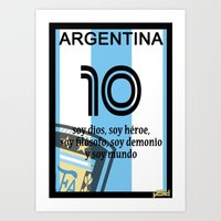 argentina Art Prints featuring argentina by John Sideris