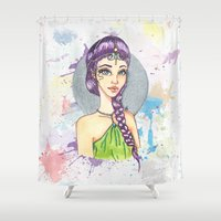princess Shower Curtains featuring Princess by Lagoonartastic