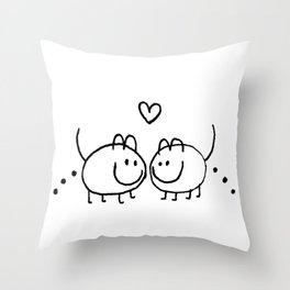 LOVE AND SHIT HAPPENS Throw Pillow