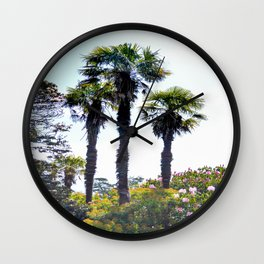 The Lost Gardens of Heligan - Palm Trees Wall Clock