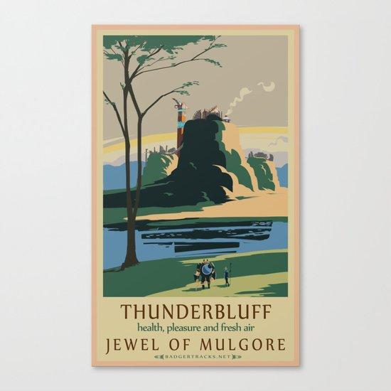 Thunder Bluff Classic Rail Poster Canvas Print