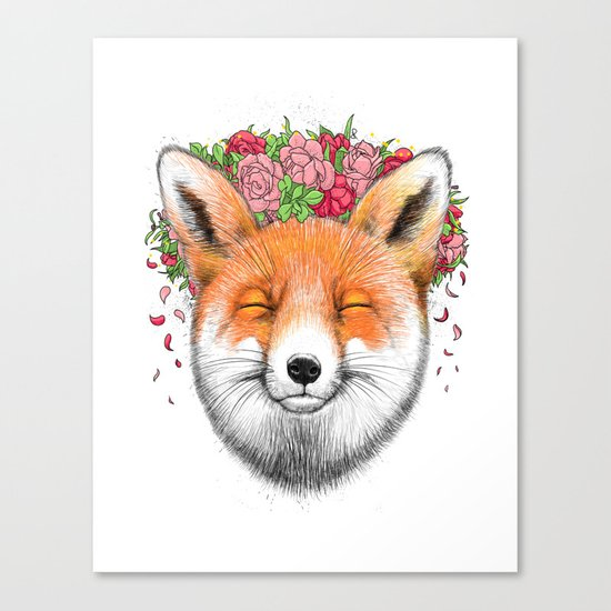 happy fox Canvas Print