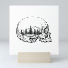 SKULL/FOREST Mini Art Print