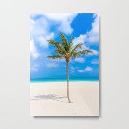 Tropical Island, Palm Tree Metal Print