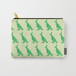 I Want Chocolate - Origami Green Kangaroo Carry-All Pouch